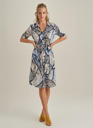 Ng Style Desenliı Elbise Mavi